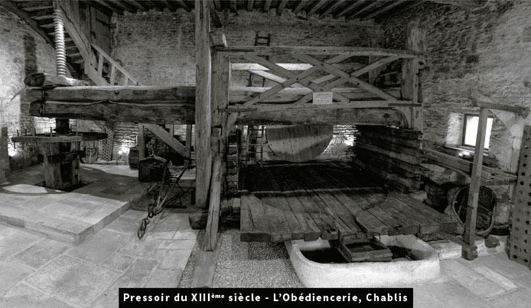 Pressoir du XIIIème siècle - L'Obédiencerie, Chablis
