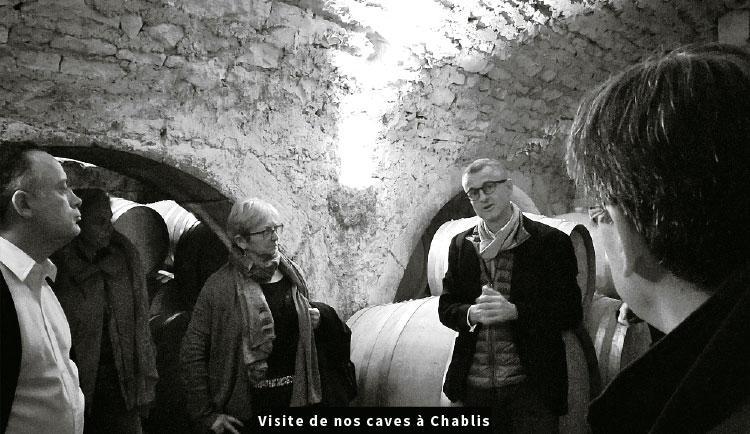 visite de nos caves à Chablis